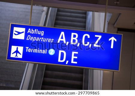 german airport sign