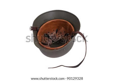 German Army helmet isolated on a white background - stock photo