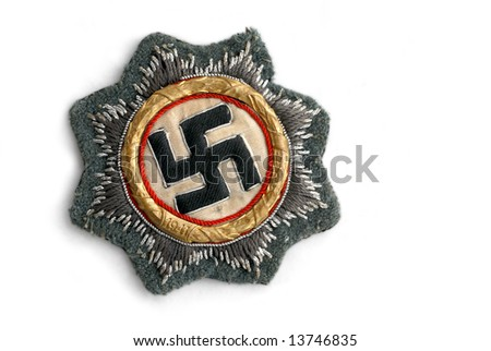 German at the World War Two Order of German Cross in gold (East Star). Interim award between Iron Cross 1st class and Chivalry Cross - stock photo