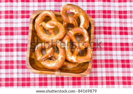 german bavarian breakfast with brezel