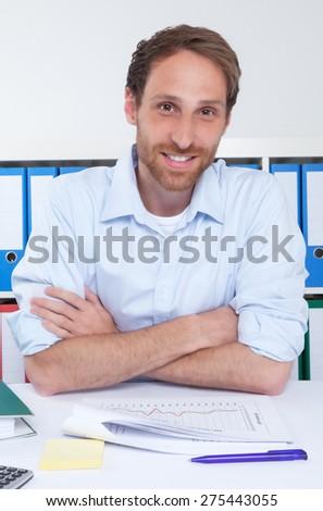 German businessman at office - stock photo