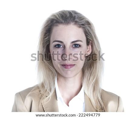 German businesswoman portrait - stock photo