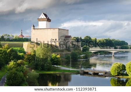 German Castle in Narva, Estonia - stock photo