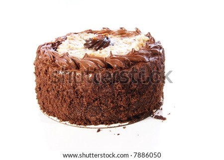 German Chocolate Cake. Double layer round with coconut glaze and ...