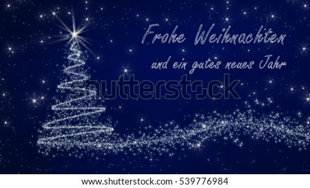 german christmas card frohe weihnachten und. Black Bedroom Furniture Sets. Home Design Ideas