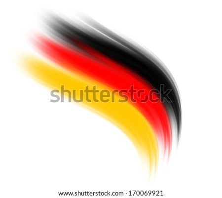 German color waves - stock photo