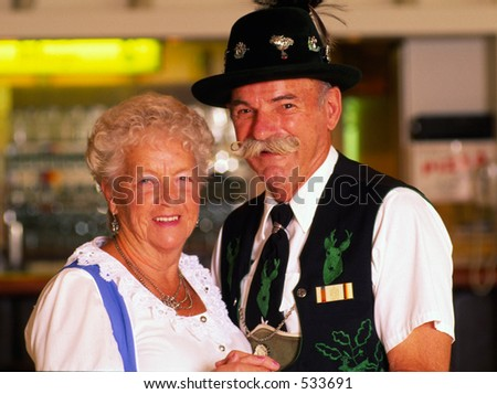 German Couple - stock photo