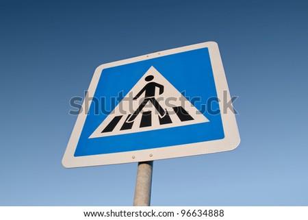 German cross walk sign - stock photo