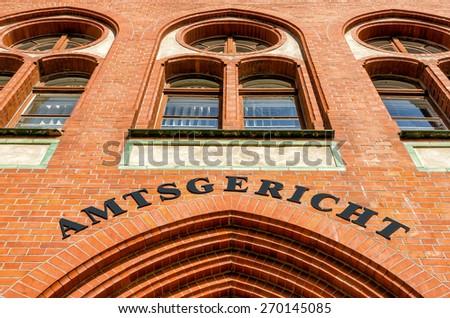 German district court - stock photo