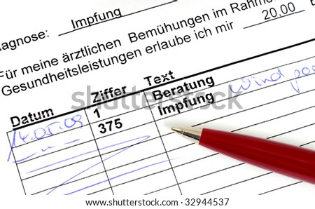 German doctors bill for a vaccination