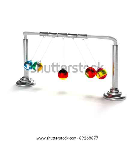 German economy is under the strike of Greece, Spain, Portugal and Ireland (concept) - stock photo
