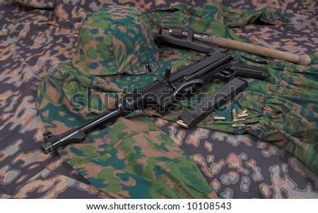 German equipment form World War II - stock photo