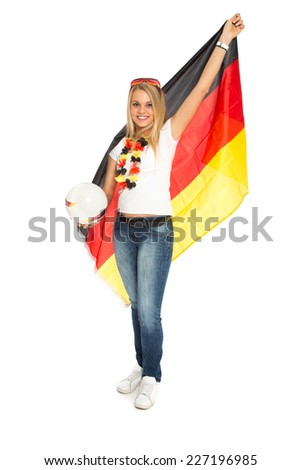 German female soccer fan