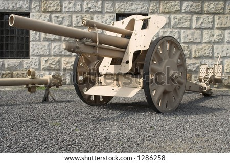 German field howitzer 105mm.