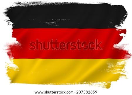 German flag backdrop background texture. - stock photo