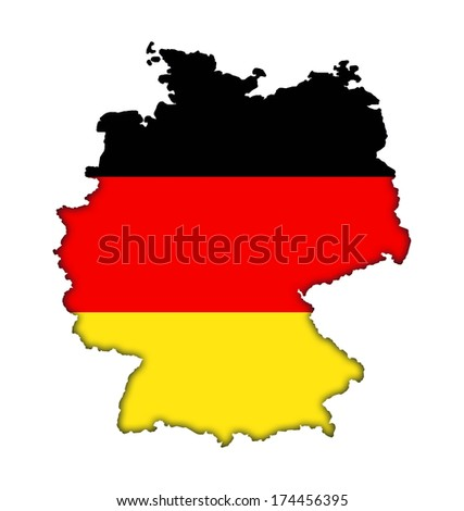 German flag banner map icon of Germany