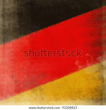 German flag drawing ,grunge and retro flag series - stock photo