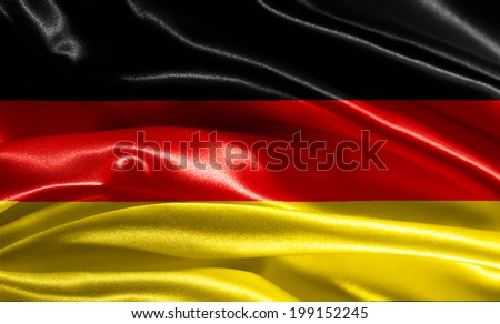 German flag fabric with waves - stock photo