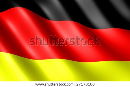 German flag  on wind (done in 3d)