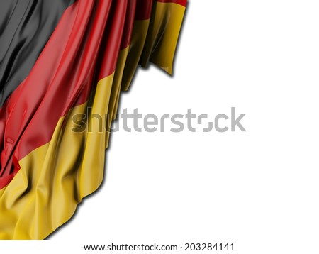 German Flag with white - stock photo