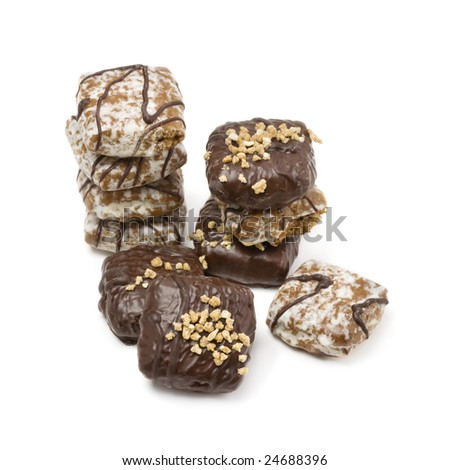 German gingerbread on white background