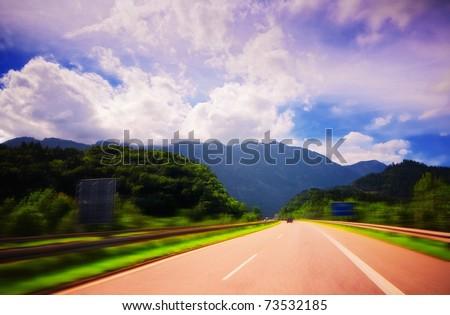 German highway - stock photo