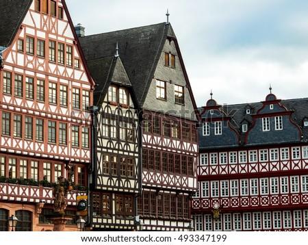 German Houses In Frankfurt
