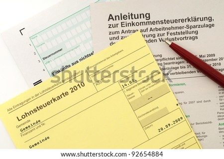 German Income tax card 2010 , used until end of 2012