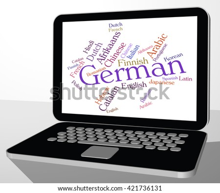 German Language Representing Wordcloud Germany And Words - stock photo