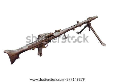 German machine gun MG 34.  First tested in 1929, introduced in 1934, and issued to units in 1936.