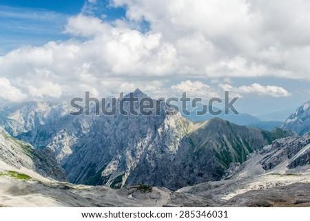 German Montains Zugsoitze - stock photo