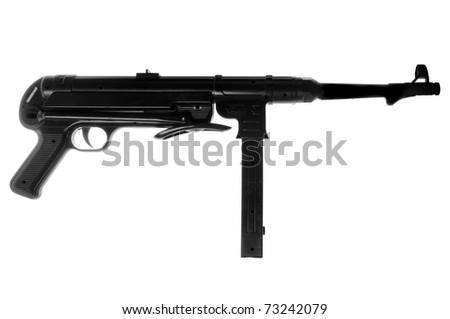 German Mp40 submachine gun isolated on white background - stock photo