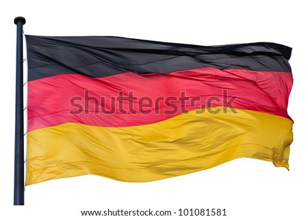 German national flag isolated on white background