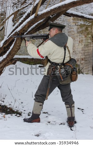 German officer of WW2. Winter uniform