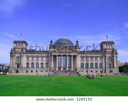 German Parliament Building in Berlin