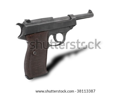 German pistole Walther P38. Legede weapon. Popular weapon by Indiana Jones in film Indiana Joune and the Last Crusade:))
