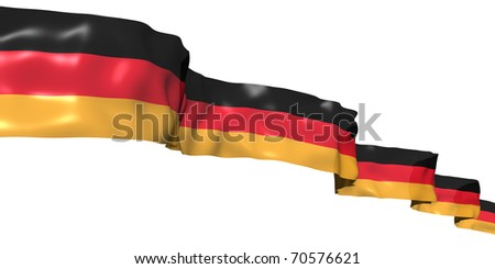 German ribbon flag isolated on white