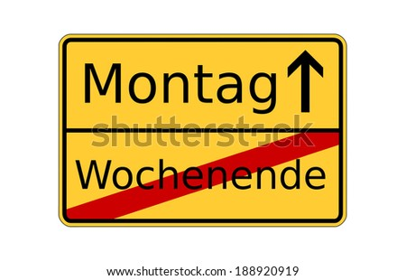 german sign monday