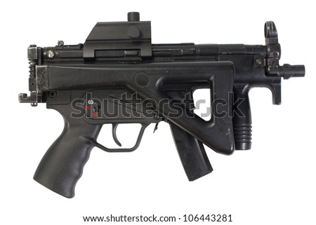 german submachine gun MP5 isolated