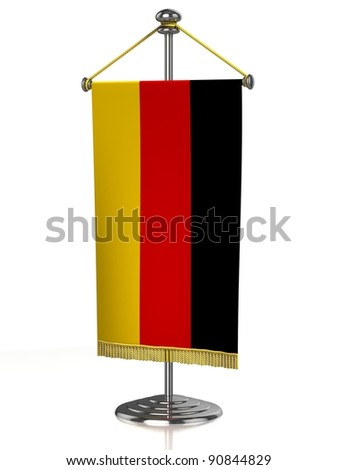 German table flag isolated on white - stock photo