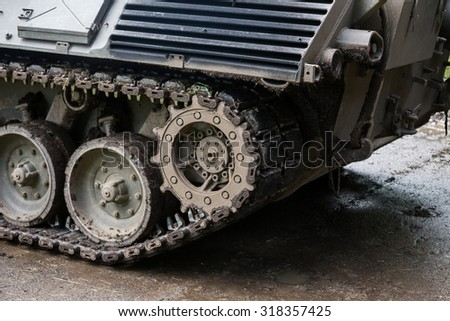german tank closeup background