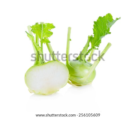 German turnips on white background