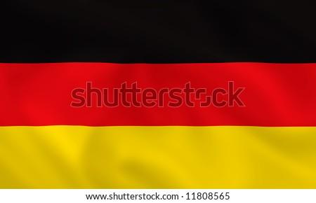 German waving flag - stock photo