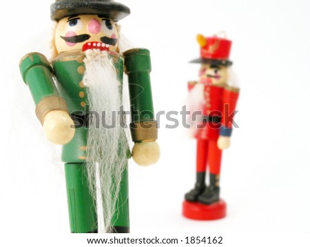 German wooden nut cracker doll with beard