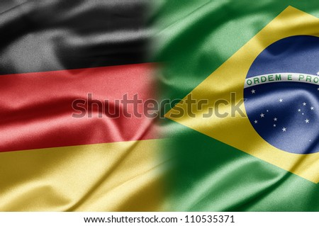 Germany and Brazil - stock photo