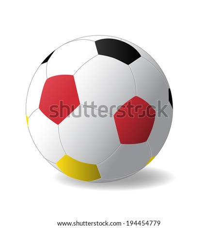 Germany ball with Germany flag