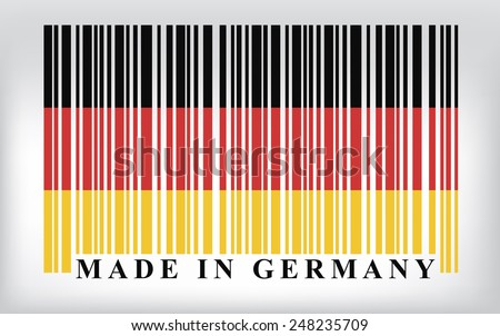 Germany barcode flag - stock photo