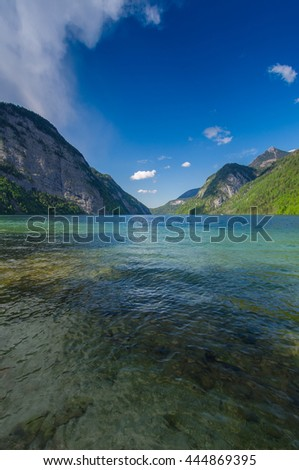Germany, Bavaria, Lake, Water, Mountain, Alps