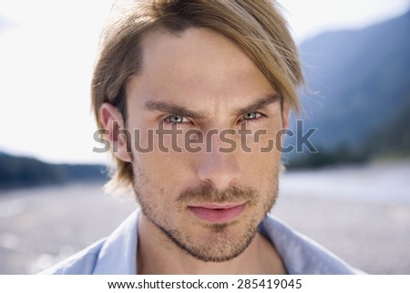 Germany, Bavaria, Portrait of a young, close-up