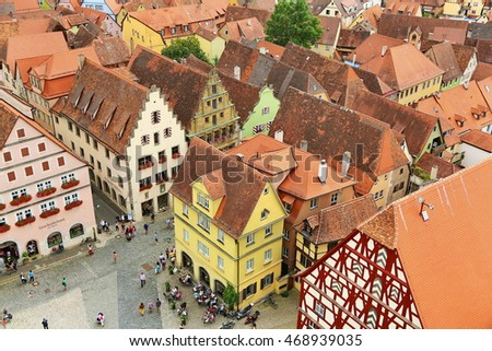 Germany, Bayern, 2014/08/02, Rothenburg ob der Tauber is a lovely town in Bavaria